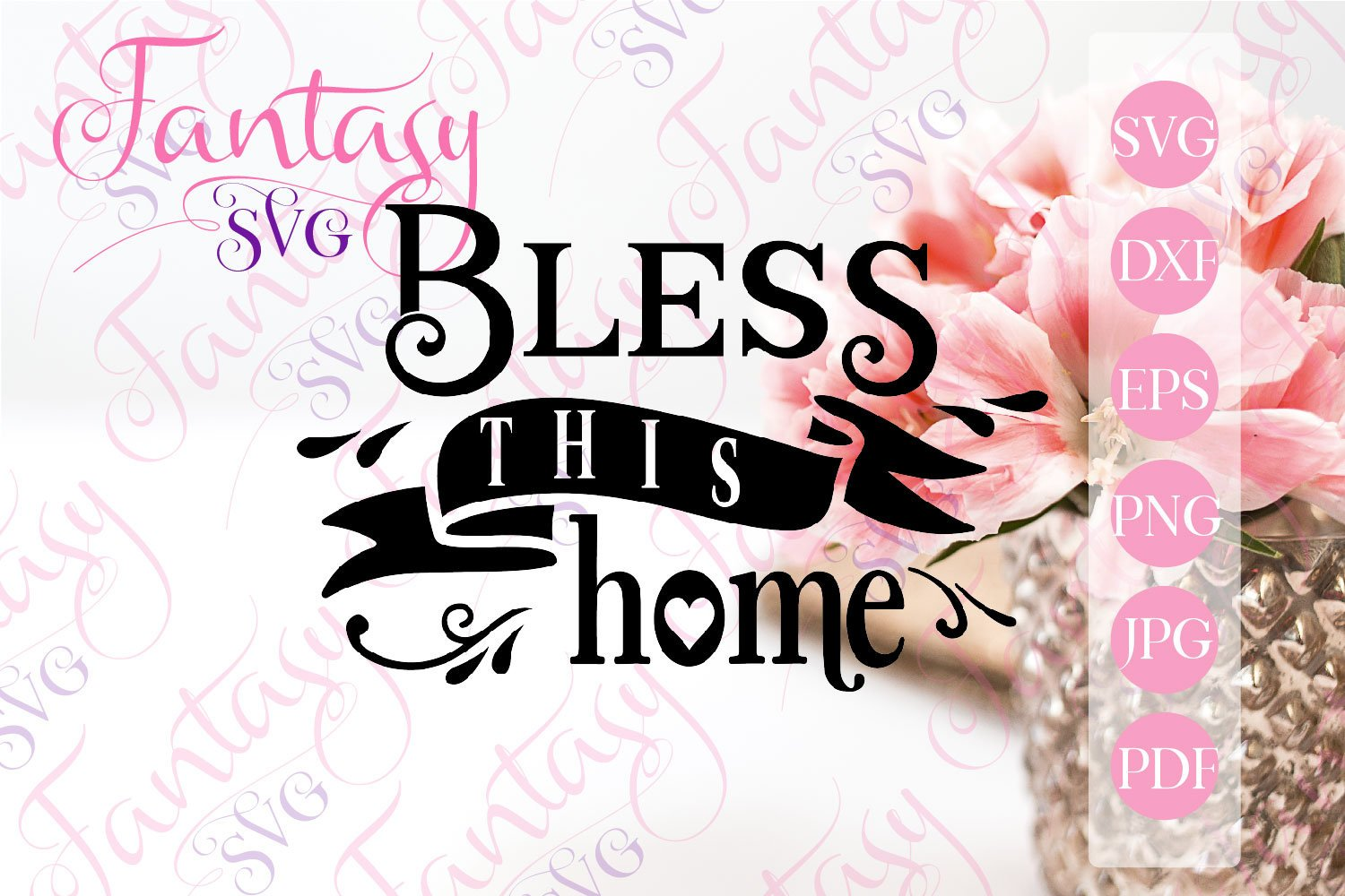 Download Free Bless This Home Svg Grafico Por Fantasy Svg Creative Fabrica for Cricut Explore, Silhouette and other cutting machines.