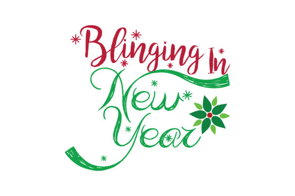 Download Free Blinging In New Year Svg Cut Graphic By Thelucky Creative Fabrica SVG Cut Files