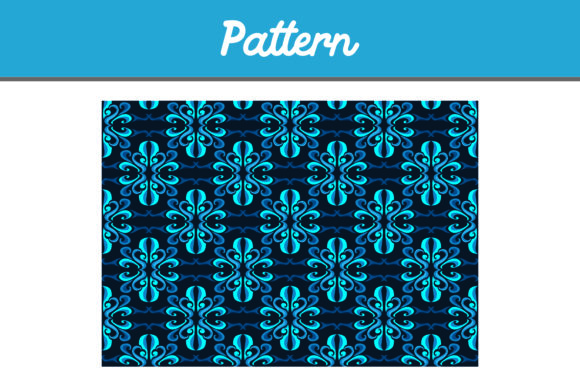 Print on Demand: Blue Background Pattern Ornamen Graphic Patterns By Arief Sapta Adjie II