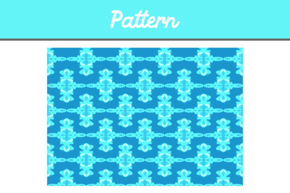 Print on Demand: Blue Background Pattern Ornamen Graphic Backgrounds By Arief Sapta Adjie II