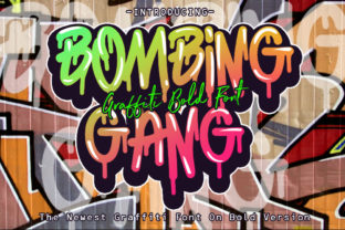 Print on Demand: Bombing Gang Blackletter Fuente Por fluffyartstudio