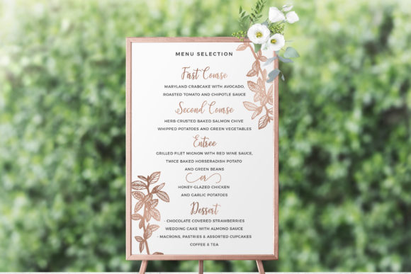 Download Free Botanical Wedding Invitation Pack Graphic By Duka Creative Fabrica for Cricut Explore, Silhouette and other cutting machines.