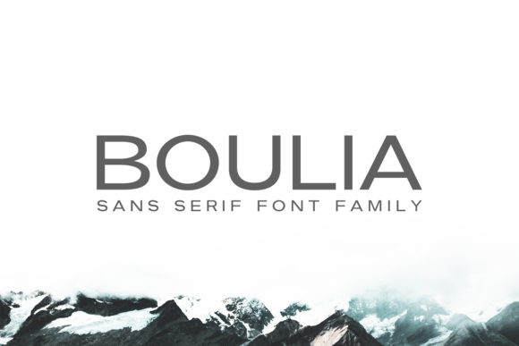 Print on Demand: Boulia Family Sans Serif Font By Creative Tacos