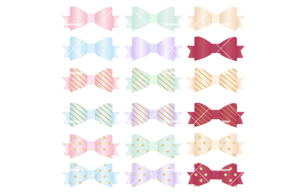 Print on Demand: Bow Ribbon Clipart Illustrations Graphic Illustrations By lilyuri0205