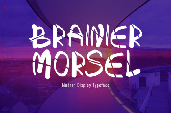 Print on Demand: Brainier Morsel Display Font By Shattered Notion