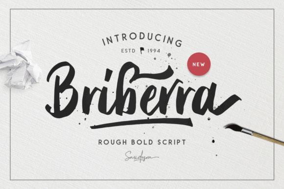 Print on Demand: Briberra Script Script & Handwritten Font By saridezra