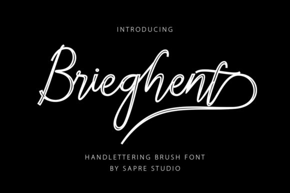 Print on Demand: Brieghent Script & Handwritten Font By sapre.studio - Image 1