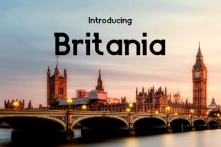 Britania Font By da_only_aan