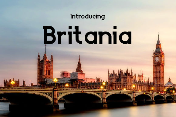 Print on Demand: Britania Slab Serif Font By da_only_aan
