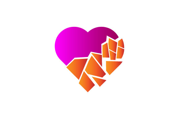 Download Free Broken Heart Logo Graphic By Hartgraphic Creative Fabrica for Cricut Explore, Silhouette and other cutting machines.