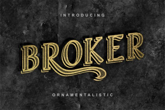 Print on Demand: Broker Display Font By bywahtung