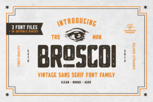Broscoi Family Font By LovePowerDesigns