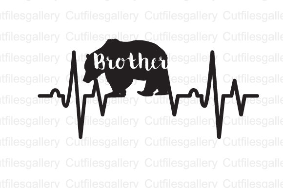 Download Free Brother Bear Heartbeat Svg Graphic By Cutfilesgallery Creative for Cricut Explore, Silhouette and other cutting machines.
