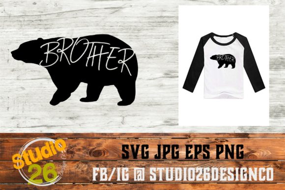 Download Free Brother Bear Graphic By Studio 26 Design Co Creative Fabrica for Cricut Explore, Silhouette and other cutting machines.