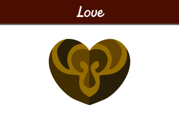 Print on Demand: Brown Love Graphic Icons By Arief Sapta Adjie
