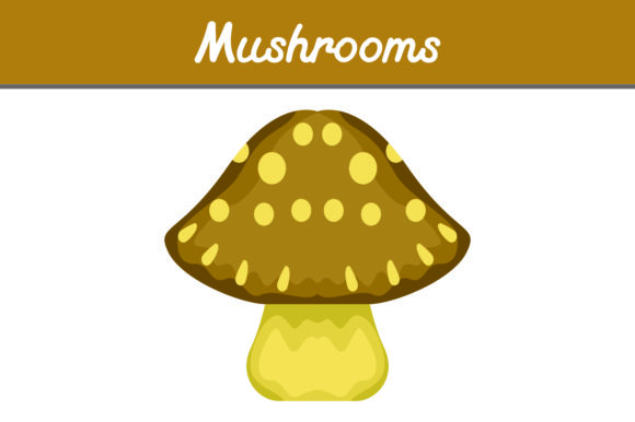 Print on Demand: Brown Mushrooms Graphic Icons By Arief Sapta Adjie