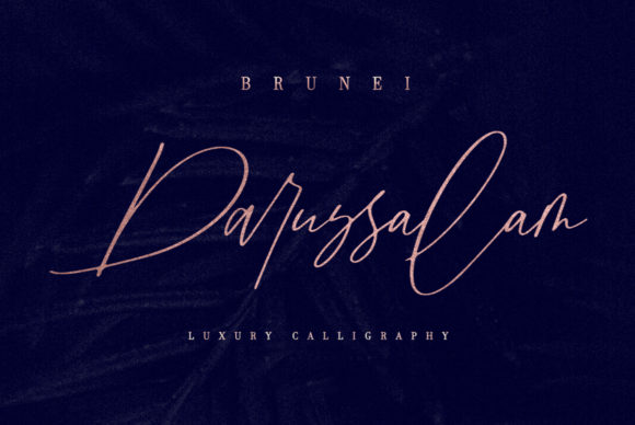 Print on Demand: Brunei Darussalam Script & Handwritten Font By Discipline - Image 1
