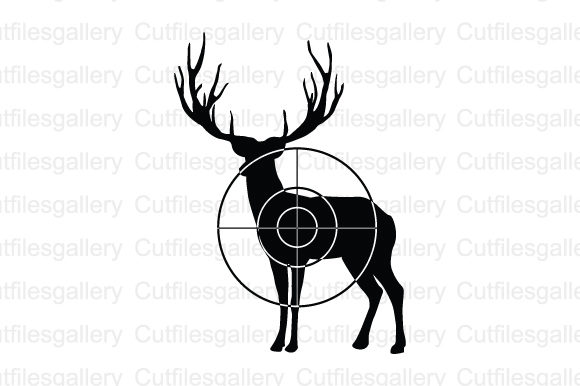 Download Free Buck Hunting Graphic By Cutfilesgallery Creative Fabrica for Cricut Explore, Silhouette and other cutting machines.