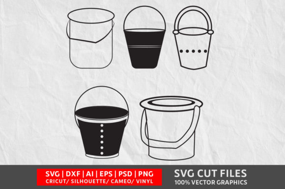 Download Free Bucket Graphic By Design Palace Creative Fabrica for Cricut Explore, Silhouette and other cutting machines.