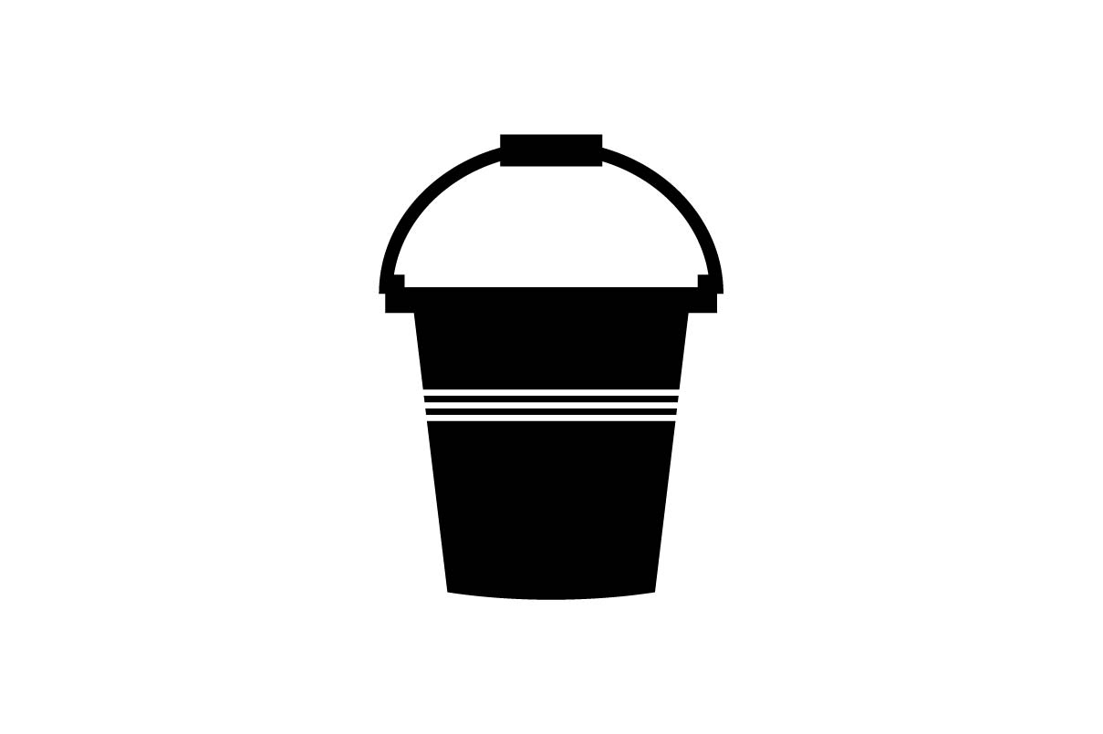 Download Free Bucket Icon Graphic By Hoeda80 Creative Fabrica for Cricut Explore, Silhouette and other cutting machines.