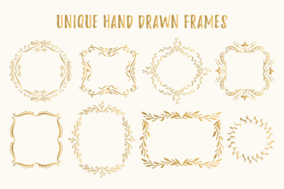 Bundle with 400 Golden Design Elements Graphic By anatartan Image 5