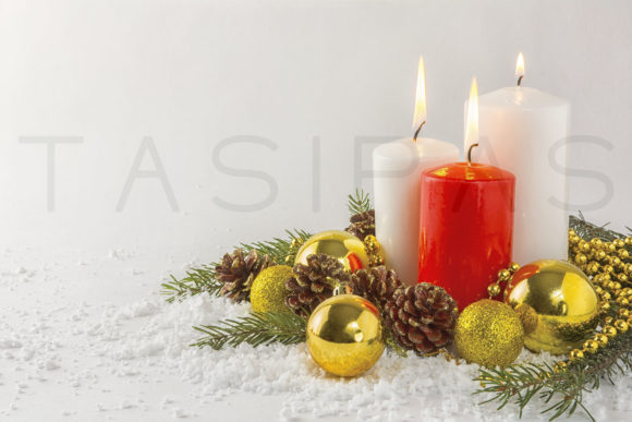Burning Candles in Snow Graphic By TasiPas