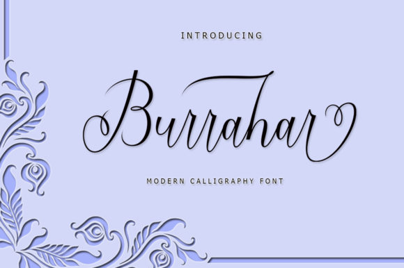 Print on Demand: Burrahar Script Script & Handwritten Font By rastype1010