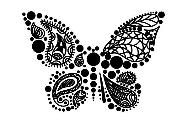 Download Free Butterffly Made Of Paisley Patterns Svg Cut File By Creative for Cricut Explore, Silhouette and other cutting machines.