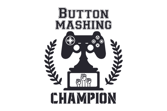 Download Free Button Mashing Champion Svg Cut File By Creative Fabrica Crafts for Cricut Explore, Silhouette and other cutting machines.