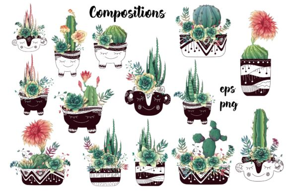 Cacti & Succulents Graphic By nicjulia Image 4