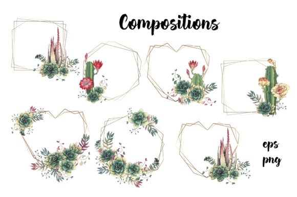 Cacti & Succulents Graphic By nicjulia Image 6