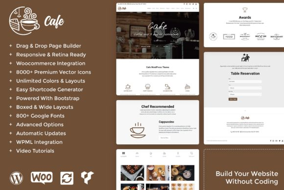 Cafe - Coffee Shop WordPress Theme Graphic By Visualmodo WordPress Themes