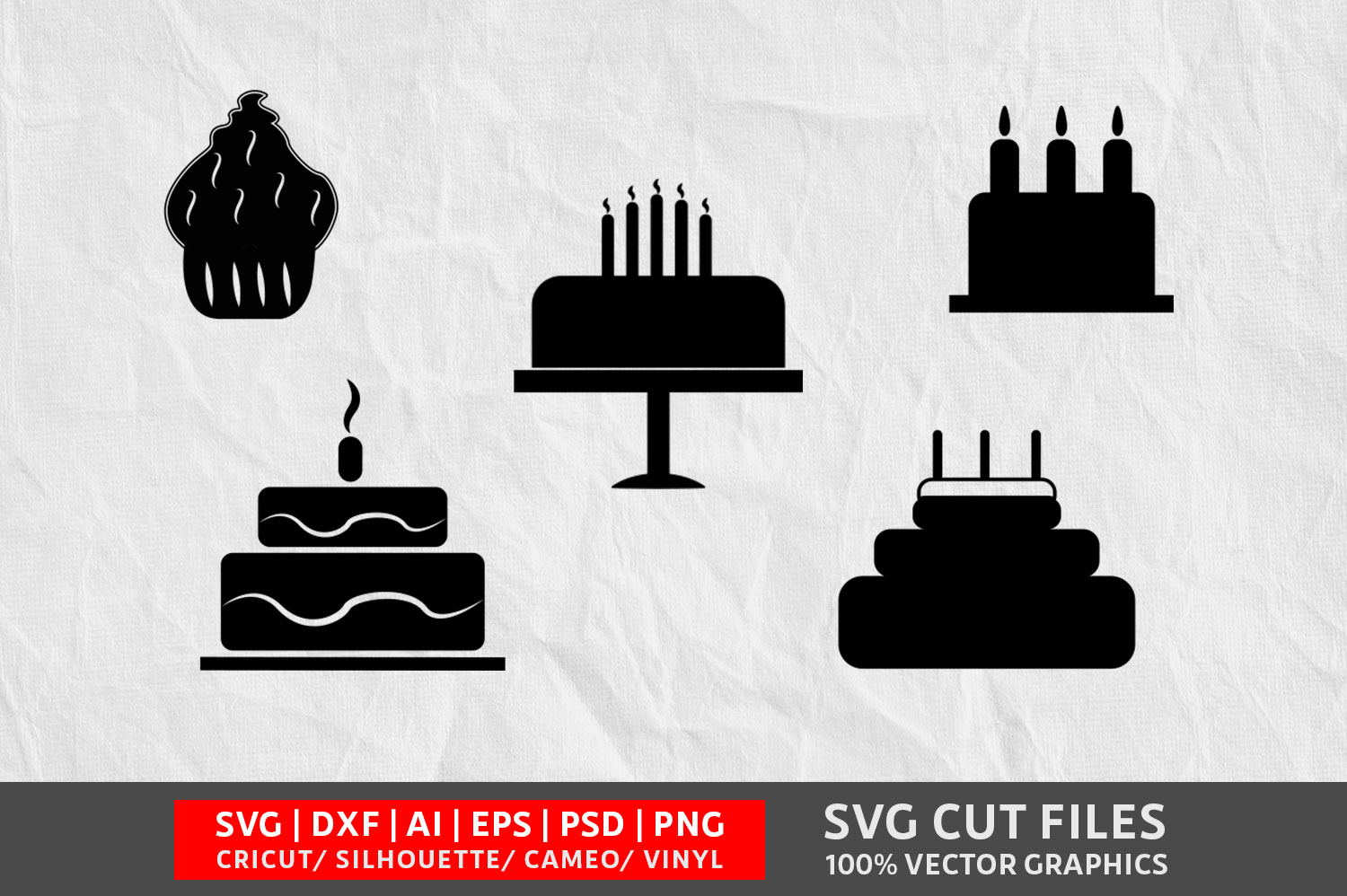Download Free Cake Graphic By Design Palace Creative Fabrica for Cricut Explore, Silhouette and other cutting machines.