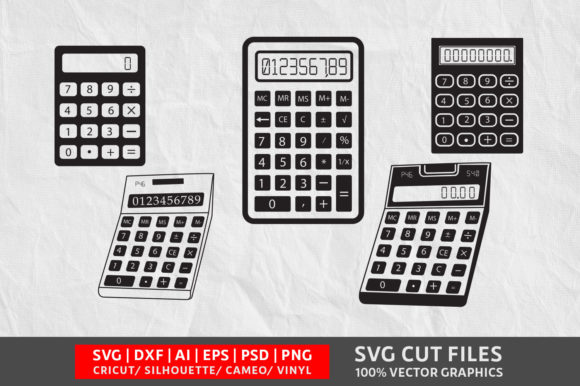 Calculator SVG Graphic Crafts By Design Palace