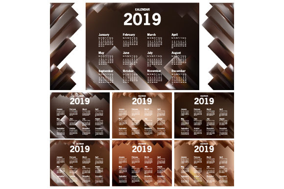 Calendar 2019 Template Graphic Print Templates By MrBrahmana