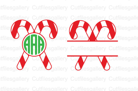 Download Free Candy Cane Christmas Svg Graphic By Cutfilesgallery Creative for Cricut Explore, Silhouette and other cutting machines.