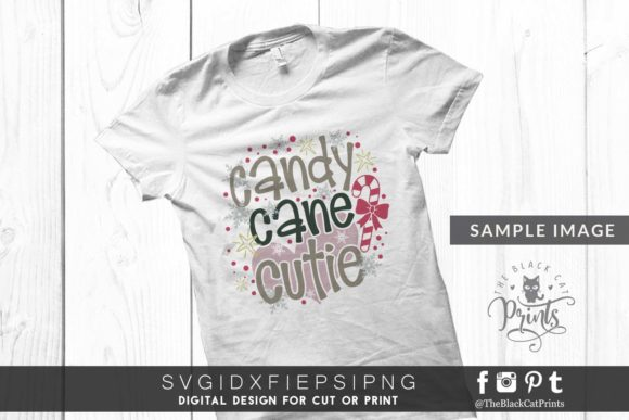 Download Free Candy Cane Cutie Svg Graphic By Theblackcatprints Creative Fabrica for Cricut Explore, Silhouette and other cutting machines.