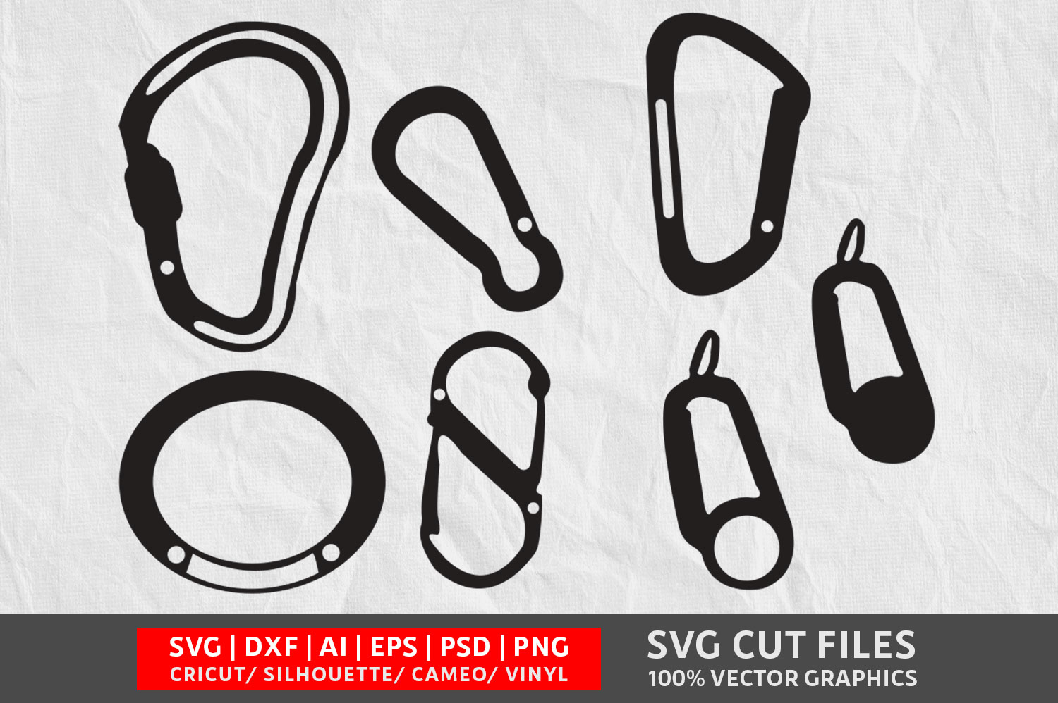 Carabiner Vol 2 Svg Cut File Graphic By Design Palace Creative
