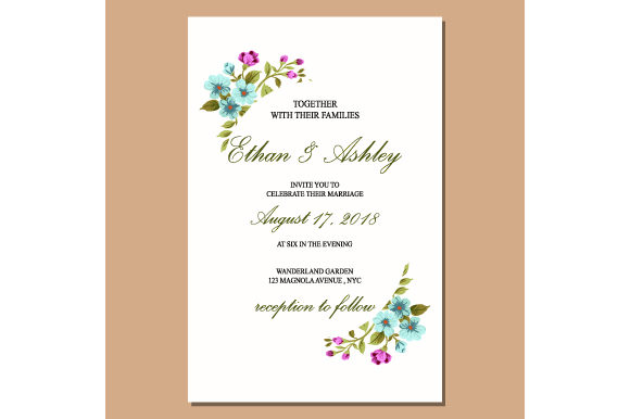 Print on Demand: Card with Flower Rose, Leaves Graphic Print Templates By iop_micro