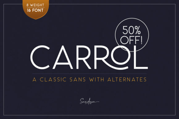 Print on Demand: Carrol Family Sans Serif Fuente Por saridezra