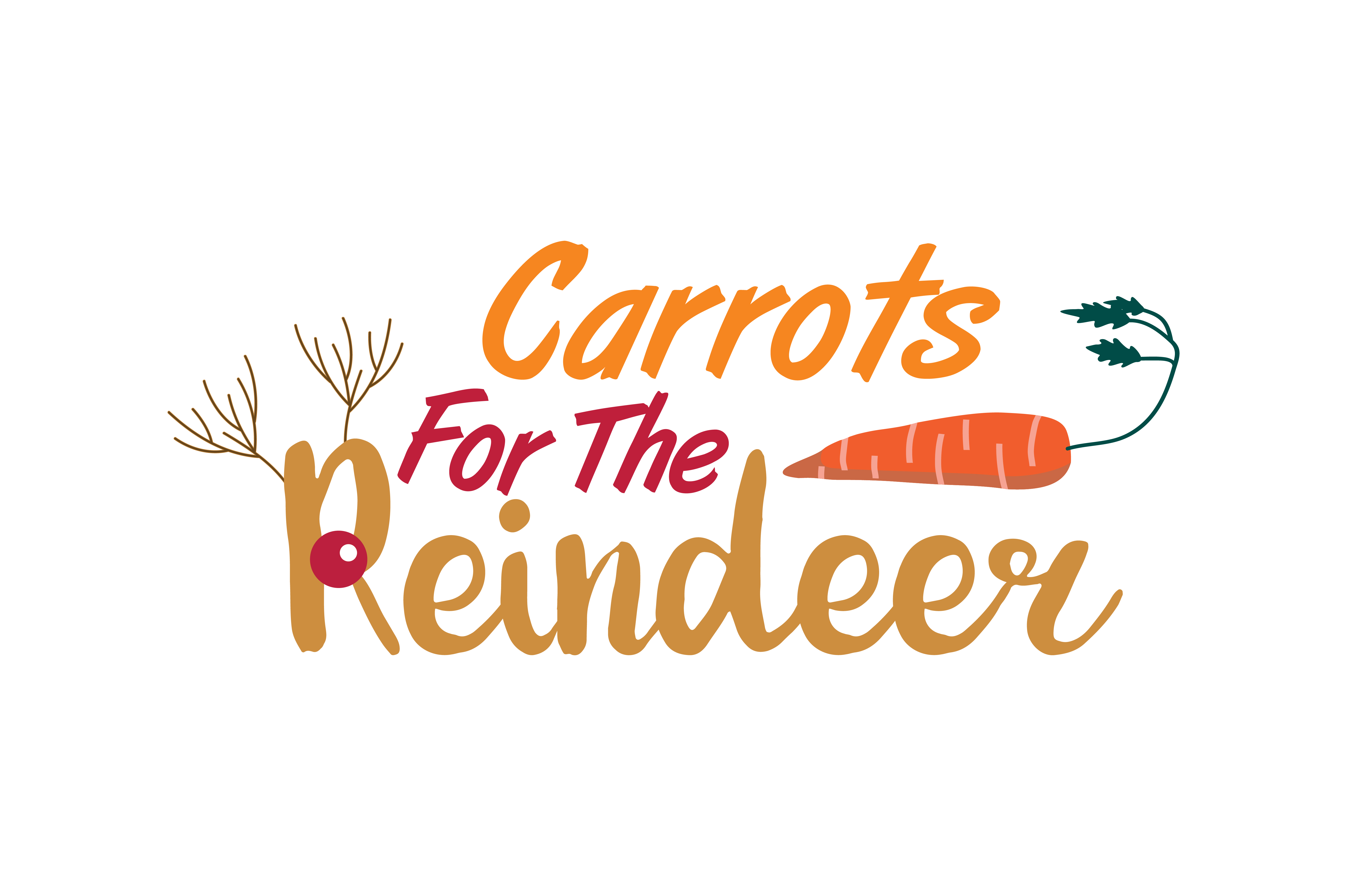 Download Free Carrots For The Reindeer Svg Cut Graphic By Thelucky Creative for Cricut Explore, Silhouette and other cutting machines.