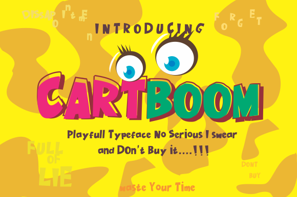 Download Free Cartboom Font By Victoriant99 Creative Fabrica for Cricut Explore, Silhouette and other cutting machines.