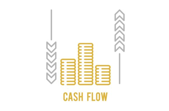 Download Free Cash Flow Icon Graphic By Back1design1 Creative Fabrica for Cricut Explore, Silhouette and other cutting machines.