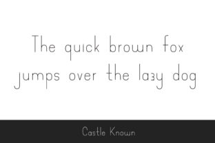 Print on Demand: Castle Known Display Font By Dasagani 2