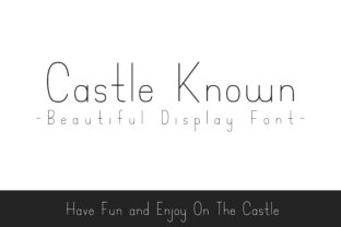 Print on Demand: Castle Known Display Font By Dasagani 1