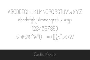 Print on Demand: Castle Known Display Font By Dasagani 6