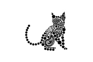 Cat Made of Paisley Patterns Paisley Craft Cut File By Creative Fabrica Crafts