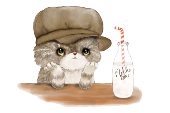 Cats with Hats Clip Art Illustrations Graphic By Jen Digital Art Image 2