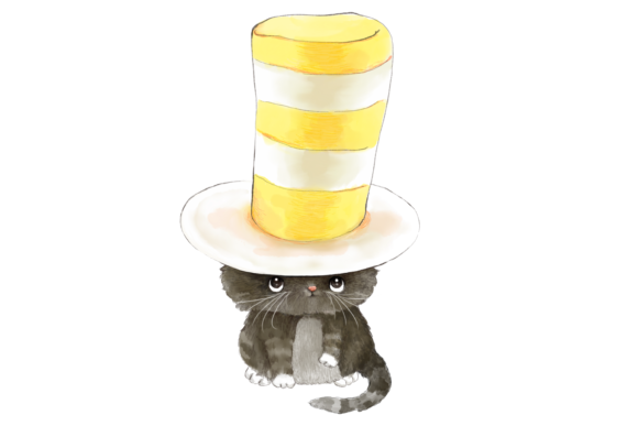 Cats with Hats Clip Art Illustrations Graphic By Jen Digital Art Image 3