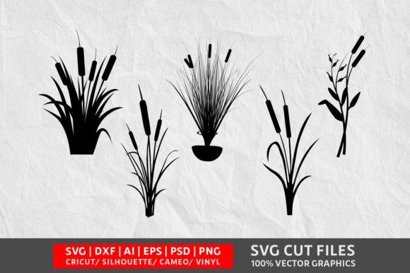 Download Free Cattail Graphic By Design Palace Creative Fabrica for Cricut Explore, Silhouette and other cutting machines.